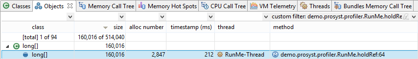 ProSyst mBS SDK 8 2: Profiling the RunMe Demo